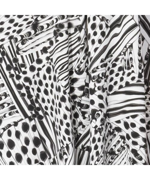 Liliane Burty / リリアンビューティ カットソー | フランス製 ライン幾何プリント 衿付きTシャツ | 詳細8