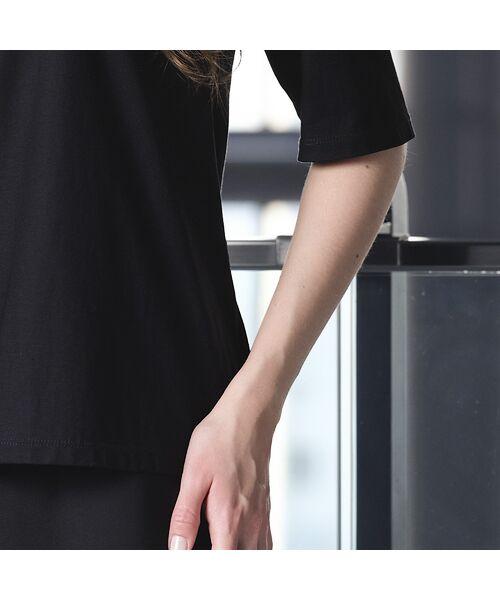 Liliane Burty / リリアンビューティ カットソー   煌めきプリント ラウンドカラーTシャツ   詳細11
