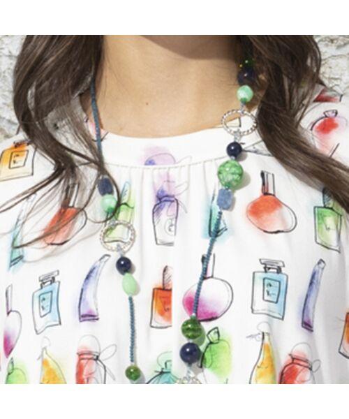 Liliane Burty / リリアンビューティ カットソー | ドイツ製素材 香水プリントチュニック | 詳細6
