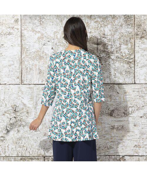 Liliane Burty / リリアンビューティ カットソー   イタリア製素材 オプティカルプリント チュニックTシャツ   詳細3