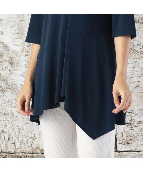 Liliane Burty / リリアンビューティ カットソー   ランディスムース 裾切り替えチュニック   詳細15