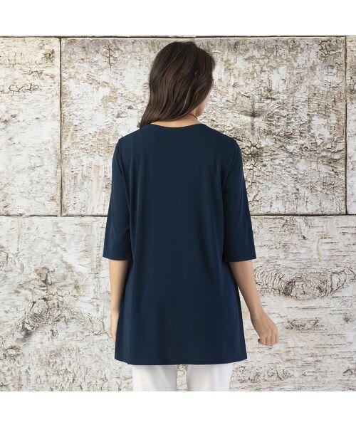 Liliane Burty / リリアンビューティ カットソー   ランディスムース 裾切り替えチュニック   詳細10
