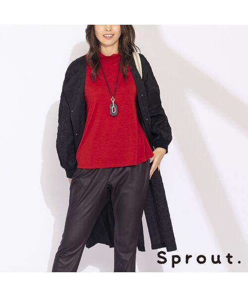 Liliane Burty(Lサイズ) / リリアンビューティ ノーカラージャケット   【Sprout.】イタリア製 ケミカル加工ライトコート(ブラック)