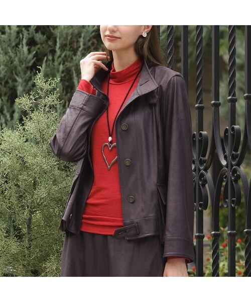 Liliane Burty(Lサイズ) / リリアンビューティ その他アウター   【Sprout.】イタリア製 箔レザープリントジャケット 〈セットアップ可〉   詳細1