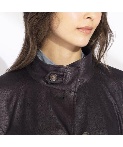 Liliane Burty(Lサイズ) / リリアンビューティ その他アウター   【Sprout.】イタリア製 箔レザープリントジャケット 〈セットアップ可〉   詳細16
