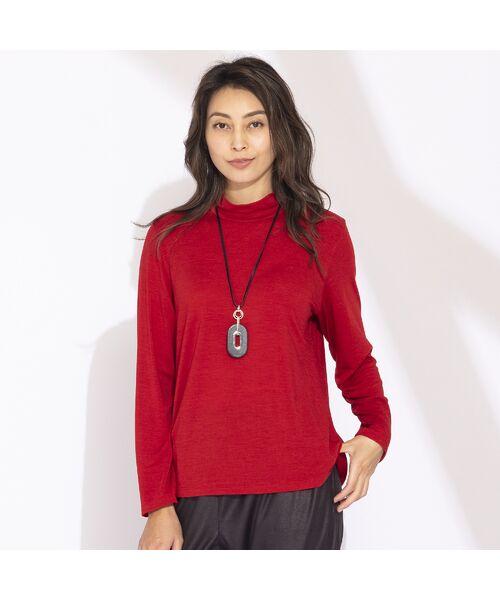 Liliane Burty(Lサイズ) / リリアンビューティ カットソー | 【Sprout.】イタリア製 ウールシルク ハイネックTシャツ | 詳細9