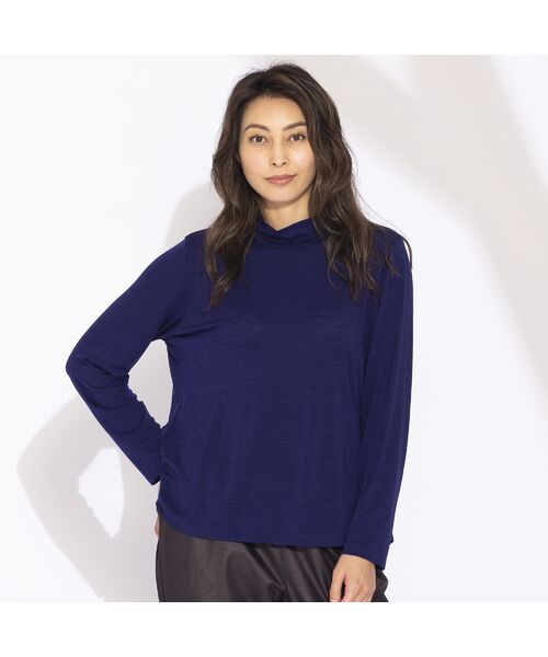 Liliane Burty(Lサイズ) / リリアンビューティ カットソー | 【Sprout.】イタリア製 ウールシルク ハイネックTシャツ | 詳細11