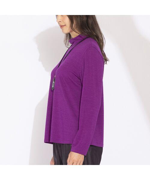 Liliane Burty(Lサイズ) / リリアンビューティ カットソー | 【Sprout.】イタリア製 ウールシルク ハイネックTシャツ | 詳細13