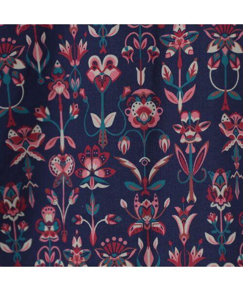 Liliane Burty ECLAT / リリアンビューティ エクラ シャツ・ブラウス | 幾何柄っぽくアレンジされたリバティプリントのシャツブラウス | 詳細4