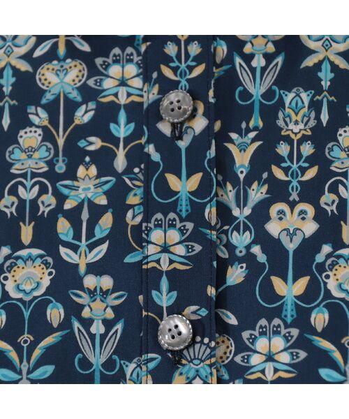 Liliane Burty ECLAT / リリアンビューティ エクラ シャツ・ブラウス | 幾何柄っぽくアレンジされたリバティプリントのシャツブラウス | 詳細6