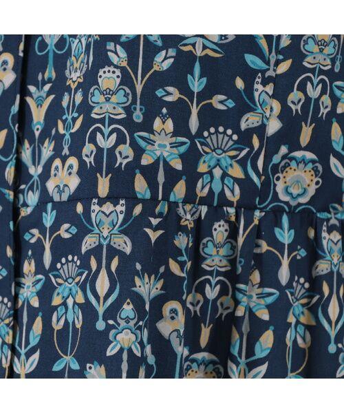 Liliane Burty ECLAT / リリアンビューティ エクラ シャツ・ブラウス | 幾何柄っぽくアレンジされたリバティプリントのシャツブラウス | 詳細7