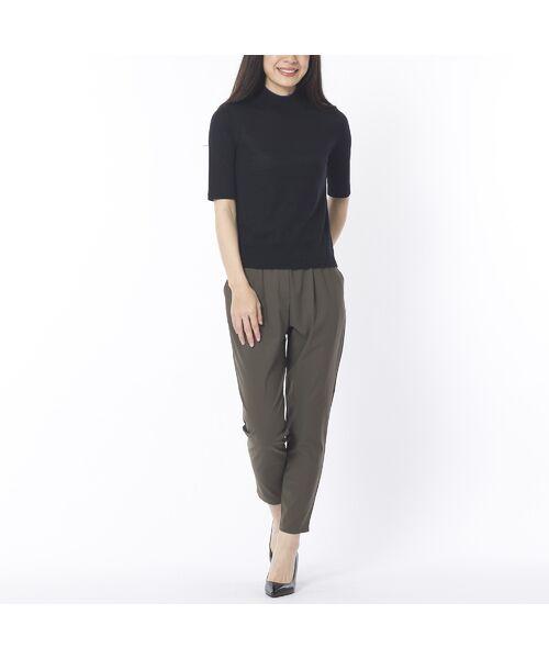 Liliane Burty ECLAT / リリアンビューティ エクラ ニット・セーター | 無地半袖セーター | 詳細1