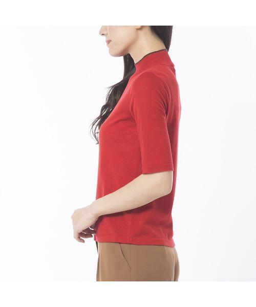 Liliane Burty ECLAT / リリアンビューティ エクラ ニット・セーター | 無地半袖セーター | 詳細2