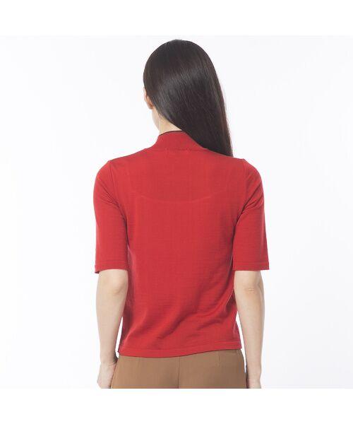 Liliane Burty ECLAT / リリアンビューティ エクラ ニット・セーター | 無地半袖セーター | 詳細3