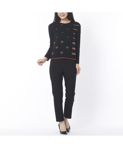 Liliane Burty ECLAT / リリアンビューティ エクラ ニット・セーター | 配色使いデザインプルオーバー | 詳細3