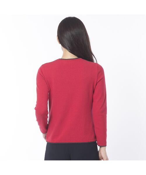 Liliane Burty ECLAT / リリアンビューティ エクラ ニット・セーター | 配色使いデザインプルオーバー | 詳細5