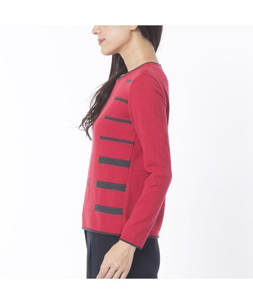Liliane Burty ECLAT / リリアンビューティ エクラ ニット・セーター | 配色使いデザインプルオーバー | 詳細6
