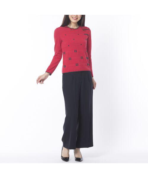 Liliane Burty ECLAT / リリアンビューティ エクラ ニット・セーター | 配色使いデザインプルオーバー | 詳細11