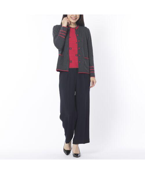 Liliane Burty ECLAT / リリアンビューティ エクラ ニット・セーター | 配色使いデザインプルオーバー | 詳細12