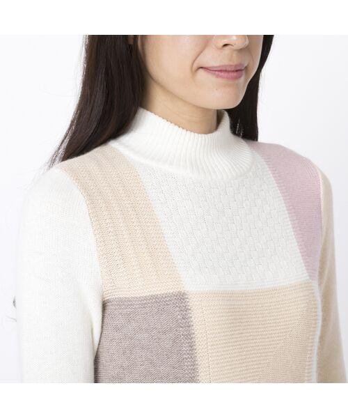 Liliane Burty ECLAT / リリアンビューティ エクラ ニット・セーター   ブロックチェックプルオーバーニット   詳細3