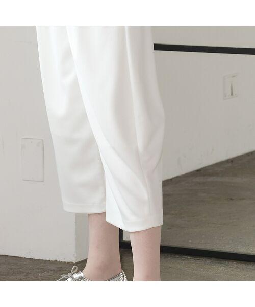 Liliane Burty ECLAT / リリアンビューティ エクラ ショート・ハーフ・半端丈パンツ | ポリエステルポンチ コクーンシルエットパンツ(裏地付き) | 詳細9
