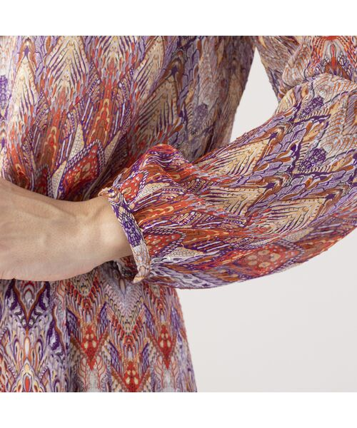 Liliane Burty ECLAT / リリアンビューティ エクラ シャツ・ブラウス | イタリア製カットジャカード ブラウス【セットアップ可】 | 詳細4