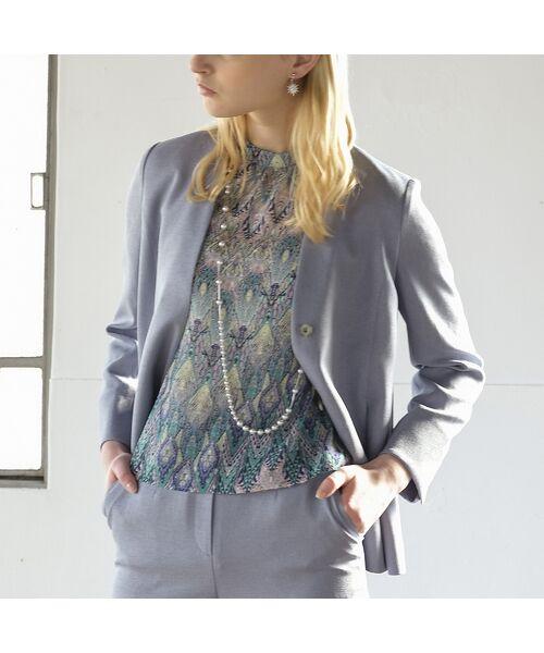 Liliane Burty ECLAT / リリアンビューティ エクラ シャツ・ブラウス | イタリア製カットジャカード ブラウス【セットアップ可】 | 詳細15