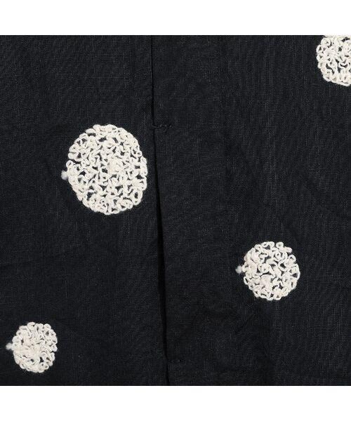 Liliane Burty ECLAT / リリアンビューティ エクラ シャツ・ブラウス | 綿麻ワッシャー 刺繍配色ブラウス | 詳細12