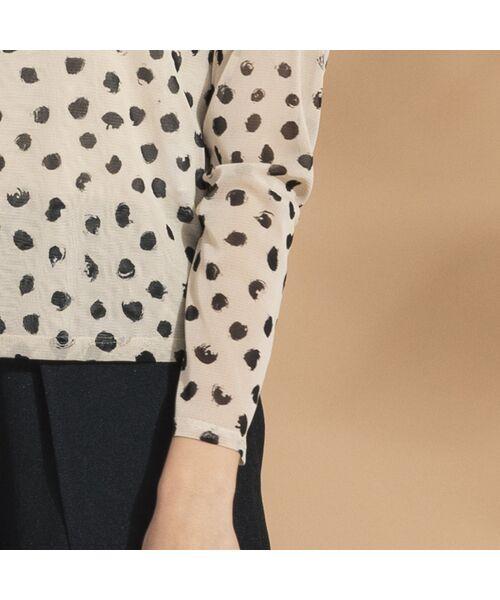 Liliane Burty ECLAT / リリアンビューティ エクラ カットソー   ドットチュール ハイネックTシャツ【セットアップ可】   詳細9