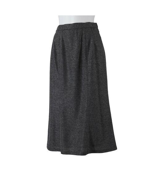 LOBJIE / ロブジェ ミニ・ひざ丈スカート   [セットアップ対応] 6枚接ぎセミフレアースカート(グレー)
