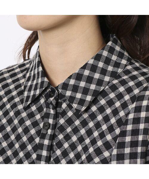 LOBJIE / ロブジェ シャツ・ブラウス | ポコポコ先染めチェックのシャツブラウス | 詳細3