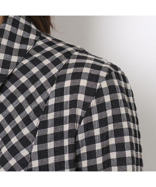 LOBJIE / ロブジェ シャツ・ブラウス | ポコポコ先染めチェックのシャツブラウス | 詳細4