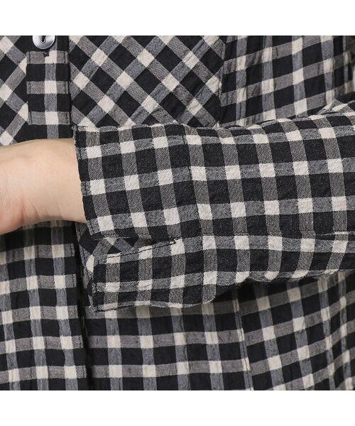 LOBJIE / ロブジェ シャツ・ブラウス | ポコポコ先染めチェックのシャツブラウス | 詳細5