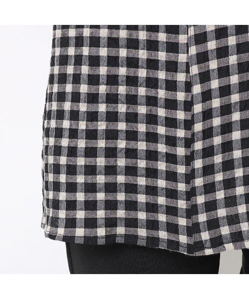 LOBJIE / ロブジェ シャツ・ブラウス | ポコポコ先染めチェックのシャツブラウス | 詳細6