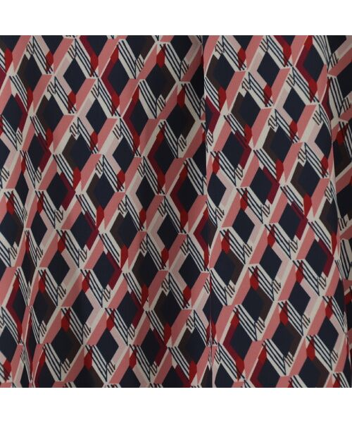LOBJIE / ロブジェ カットソー | 幾何柄プリント×ワイドリブのカットソーチュニック | 詳細6