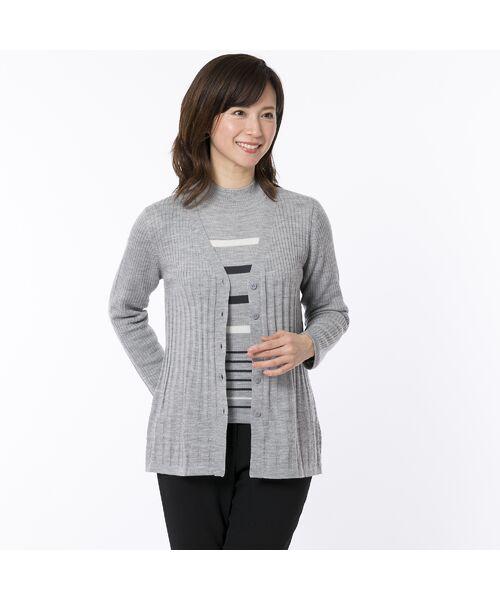 LOBJIE / ロブジェ ニット・セーター | [アンサンブル対応] ハイゲージウールのボーダーセーター | 詳細1