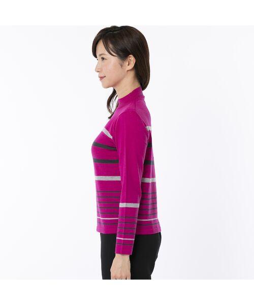 LOBJIE / ロブジェ ニット・セーター | [アンサンブル対応] ハイゲージウールのボーダーセーター | 詳細2