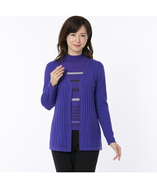 LOBJIE / ロブジェ ニット・セーター | [アンサンブル対応] ハイゲージウールのボーダーセーター | 詳細9