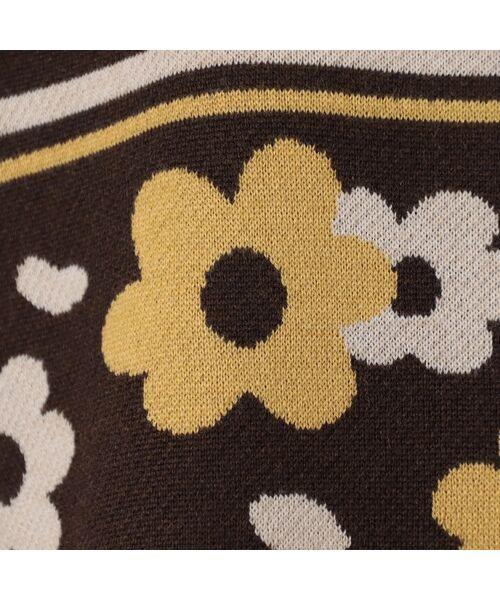 LOBJIE / ロブジェ ニット・セーター   フラワージャガードのニットチュニック   詳細6