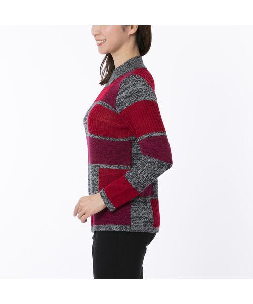 LOBJIE / ロブジェ ニット・セーター | カラーブロックのプルオーバーニット | 詳細1