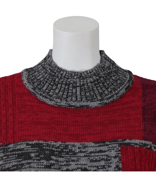 LOBJIE / ロブジェ ニット・セーター | カラーブロックのプルオーバーニット | 詳細3