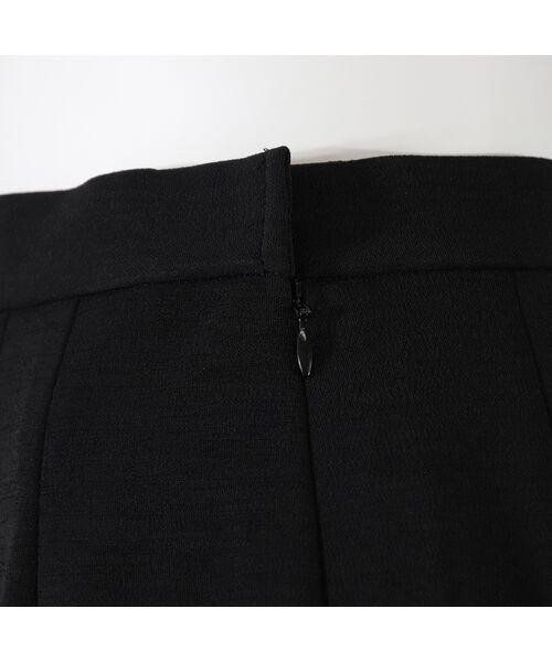 LOBJIE / ロブジェ ミニ・ひざ丈スカート   [セットアップ対応] アシンメトリー切り替えのセミフレアースカート   詳細9