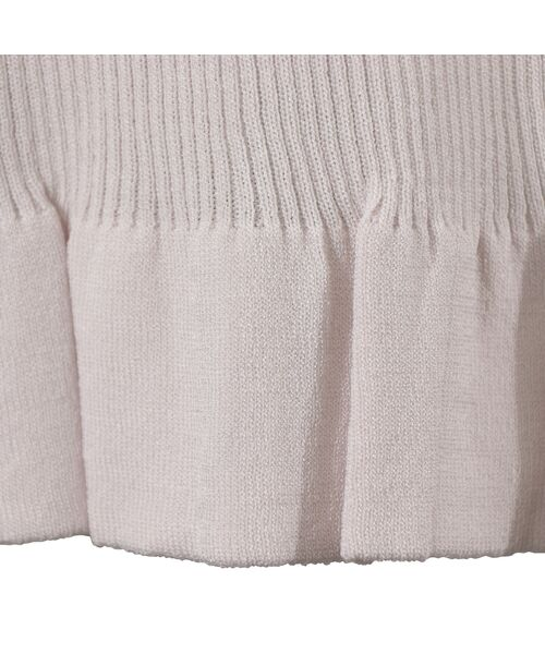 LOBJIE / ロブジェ ニット・セーター   [アンサンブル対応]ビジュー付き九分袖リブニット   詳細7