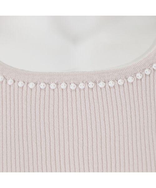 LOBJIE / ロブジェ ニット・セーター   [アンサンブル対応]ビジュー付き九分袖リブニット   詳細8