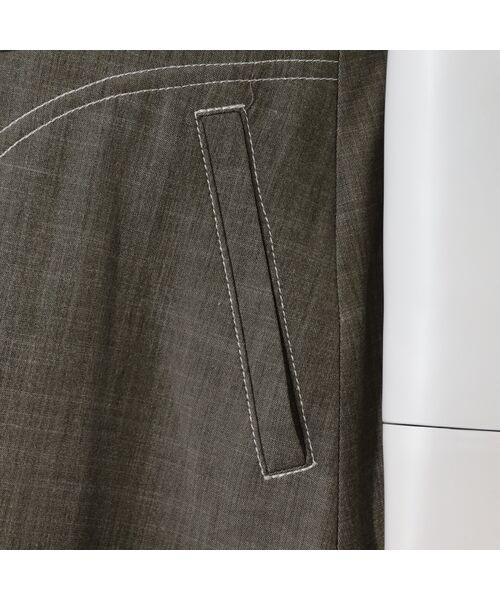 LOBJIE / ロブジェ ベスト | 3Dフラワー刺繍のデニム調ベスト | 詳細16