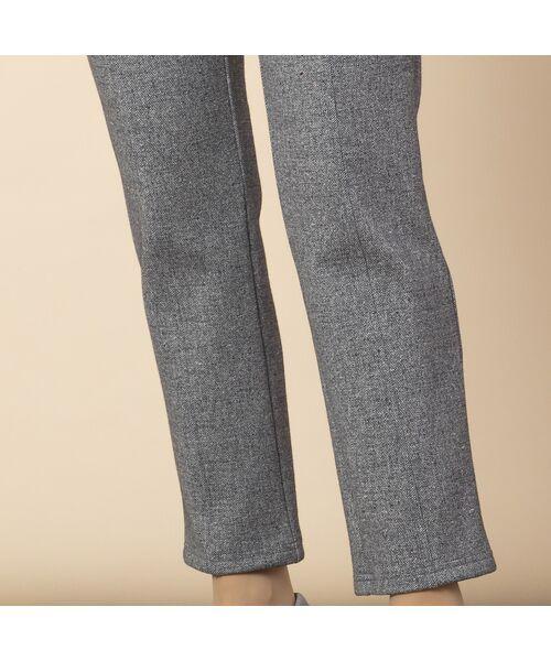 LOBJIE / ロブジェ ショート・ハーフ・半端丈パンツ | 裏起毛ツィードプリントスリムパンツ | 詳細3