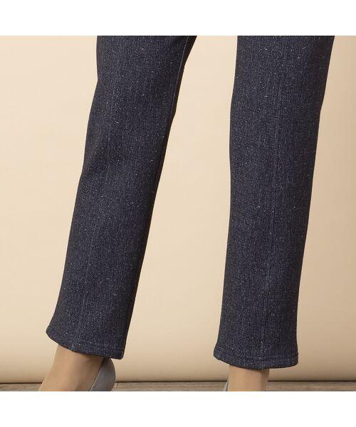LOBJIE / ロブジェ ショート・ハーフ・半端丈パンツ | 裏起毛ツィードプリントスリムパンツ | 詳細11