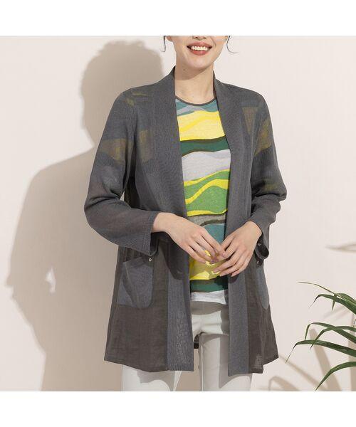 LOBJIE / ロブジェ カーディガン・ボレロ   リネンミックスニットカーディガン   詳細9