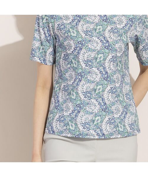 LOBJIE / ロブジェ カットソー | 【カバリエレ・アズーロコラボ】ペイズリープリントTシャツ | 詳細15