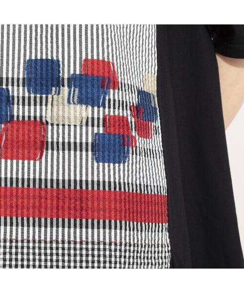 LOBJIE / ロブジェ カットソー | カットジャガード×コットン天竺Tシャツ | 詳細9